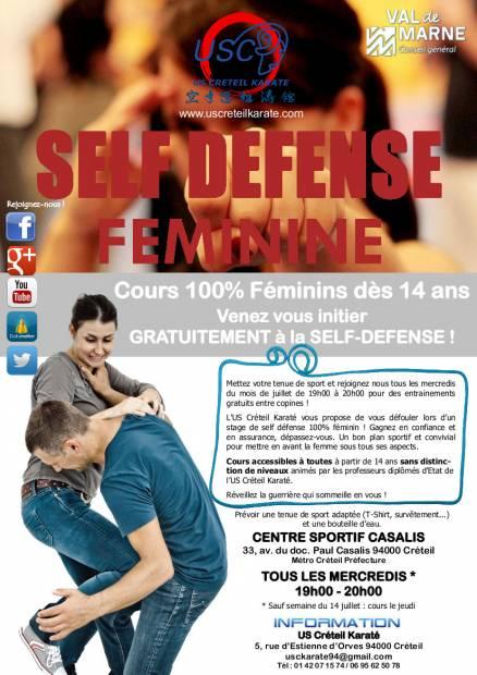 Self-Défense Féminine Juillet 2015
